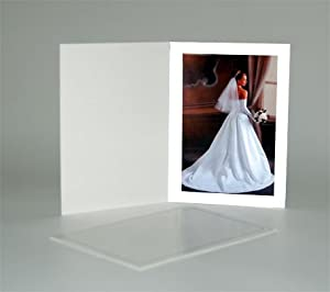 Cardboard Photo Folder for a 4x6 Photo - White Stock - Pack of 50