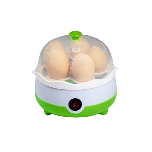 Wotefusi Home New 220V Kitchen 5 Eggs Cooker Steamer Cooking Boiler Green (Boiler 220v compare prices)