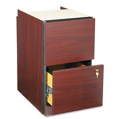 Hon 10500/10700 Series File/File Pedestal For Shell, Unfinished Top, Mahogany