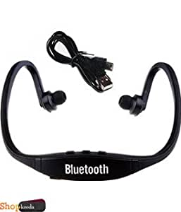 BQ E2 COMPATIBLE BS19 Wireless Bluetooth On-ear Sports Headset Headphones (with Micro Sd Card Slot and FM Radio) BLACK