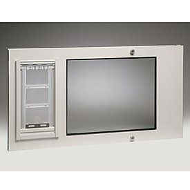 "Patio Pacific Thermo Sash Iiie - #12 With Endura Flap - Color White - Fits Window Widths 25""- 28"""