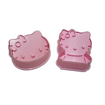 autek 2x 3d hello kitty fondant cake baking biscuit cookie cutter. Black Bedroom Furniture Sets. Home Design Ideas