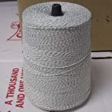 Packaging Twine, 4 Ply, Green and White. 2lb. Cone, 3,360 Yards