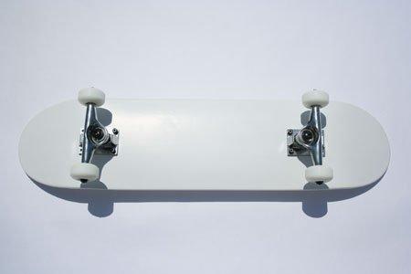 Blank Skateboard Complete White Blank Dipped Skateboard