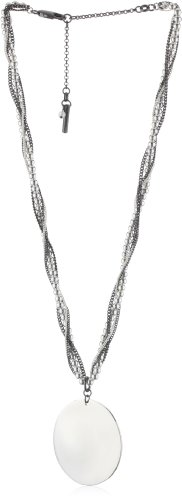 "Kenneth Cole New York ""Modern Shine"" Silver Disk Pendant Necklace, 21"