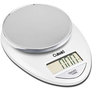 Cuisaid ProDigital Digital Kitchen Scale (White Chrome)
