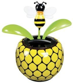 Solar Powered Dancing Bumblebee Flower - 1