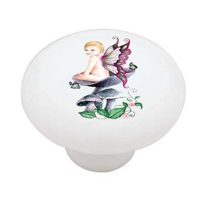 Fairy Child Decorative High Gloss Ceramic Drawer Knob front-937330