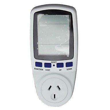 Au Socket Energy Power Watt Voltage Volt Meter Monitor Analyzer Meter Monitor , White