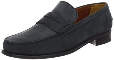 a.testoni Men's M60216Sim Moccasin,Black,7.5 M US