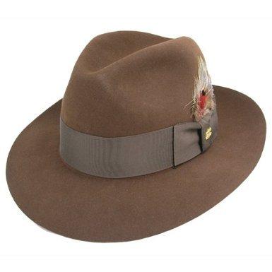 Stetson ステットソン Temple Fur Felt フェドーラハット 中折れ帽 頭囲61㎝  【並行輸入品】