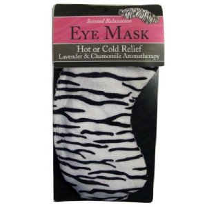 Swissco Stress Relief Eye Mask With Zebra Print in PVC Bag