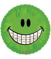 "18"" Smiley Face with Braces Balloon - 1"