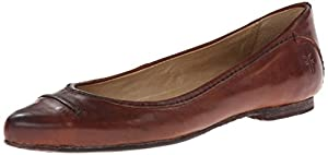 FRYE Women's Olive Seam Ballet Flat,Brown,7 M US