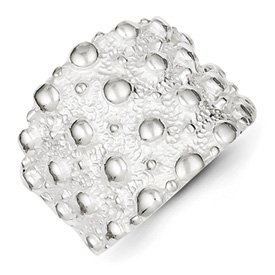 Genuine IceCarats Designer Jewelry Gift Sterling Silver Studded Ring Size 6.00
