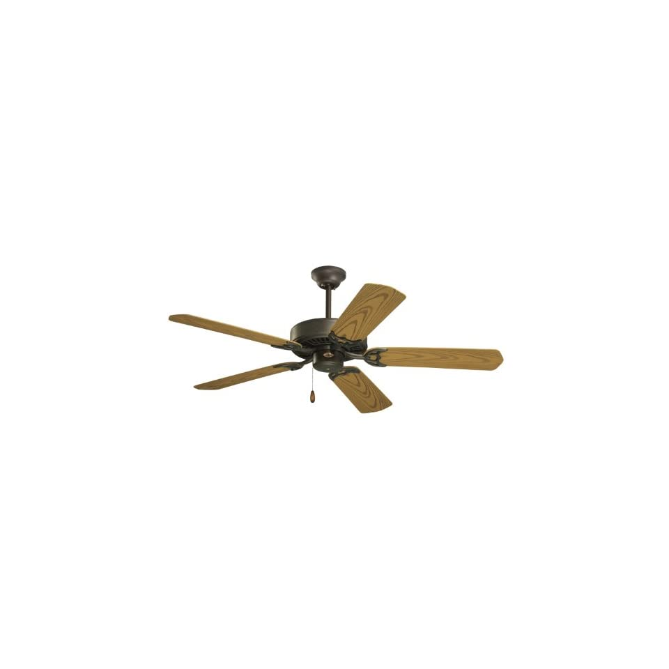 Emerson CF652WB Summer Night Indoor/Outdoor Ceiling Fan, 52 Inch Blade Span, Weathered Bronze Finish and All Weather Oak Blades