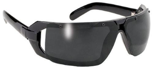 Mad Dogs Black Biker Sport Sunglasses with Dark Grey Lens