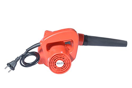 Small Portable Best Multifunctional Lightweight Handheld Electric Vacuum High Speed Rotary Air Blower Fan Machine for Domestic Home and Industrial Cleaning. Color-Red. MAA-KU