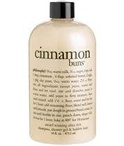 philosophy cinnamon buns shampoo, body wash, and bubble bath