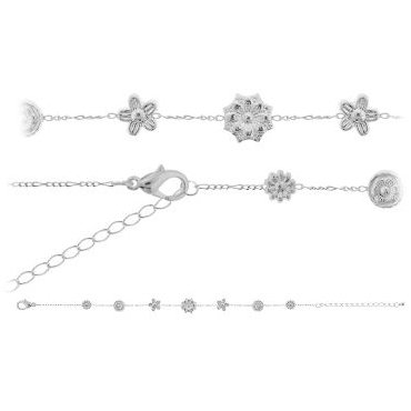 Surgical Steel - Flower - Anklet: Jewelry