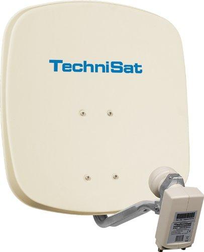 TechniSat DigiDish 45 Parabole en aluminium avec fixation AZ/EL et LNB twin Beige