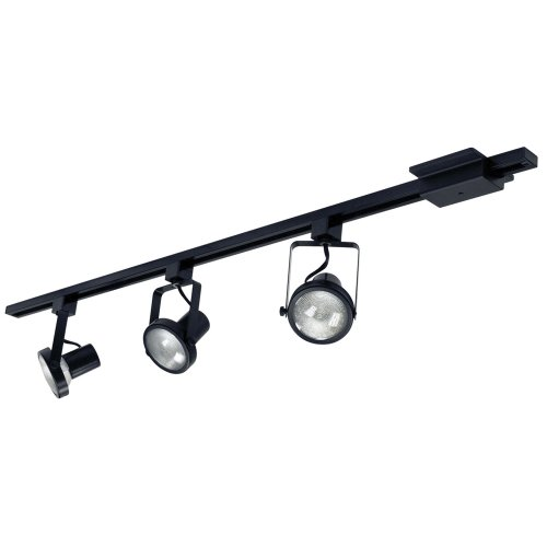 Nora Track Light NTL 158B Black 4 Ft Track Kit 3 Gimbal Ring Heads F