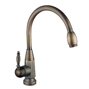 Centerset rubinetto in ottone antico da cucina - Grifos de cocina rusticos ...