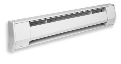 King 7K2418Bw 1,750-1,313-Watt 240/208-Volt 7-Foot Baseboard Heater, Bright White
