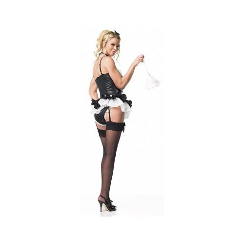 Sexy Costumes: Sexy Babes in Au Pair - Sexy Adult French Maid Costumes / Lingerie Outfit