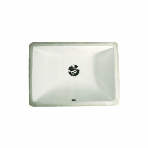 Find Discount Nantucket Sinks UM-16x11-W 16-Inch  by 11-Inch  Rectangle Ceramic Undermount Vanity, W...