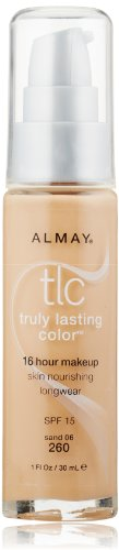 Almay TLC  Truly Lasting Color Makeup, Sand 260, 1-Ounce Bottle