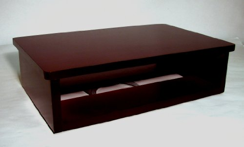 TV and DVD Cable box Swivel Stand, Dark Cherry (20