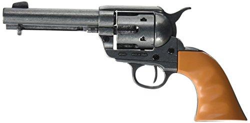 Denix Old West M1873 Quick Draw Revolver with Auburn Finger Grooved Grips Non-Firing Replica Gun, Antique Finish (Gun Replica Non Firing compare prices)