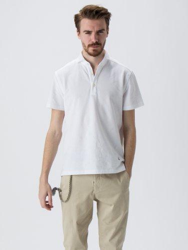 (ギ・ローバー) GUY ROVER 鹿の子 ポロシャツ 【GUYROVER145400】 ホワイト / S[並行輸入品]