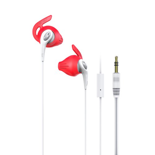 Iluv Fitactrunswt Fitactive Run High Fidelity Stereo Sports Earphones With Mic And Remote For Iphone 4 And 5 And Android Devices, White
