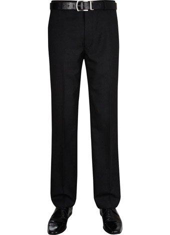 Austin Reed Regular Fit Charcoal Semi Plain Trousers SHORT MENS 32