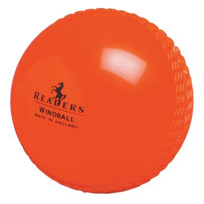 Readers Orange Cricket Training Windball Ball - Junior