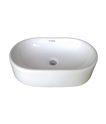 Belmonte Table Top Wash Basin Capsul 20 Inch x 12.50 Inch - Ivory