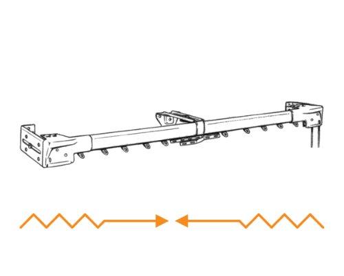 Graber Super Heavy Duty Traverse Curtain Rod 84-156 Inch, White ...