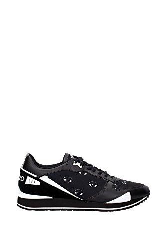 Sneakers Kenzo Uomo Tessuto Nero e Bianco M42461E16 Nero 42EU
