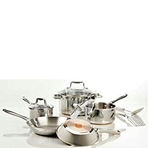 TFal Performance Stainless Steel Copper Bottom 10 pc Set