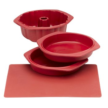 Silicone Solutions Red Cake Baking Set - Buy Silicone Solutions Red Cake Baking Set - Purchase Silicone Solutions Red Cake Baking Set (, Home & Garden, Categories, Kitchen & Dining, Cookware & Baking, Baking, Bakeware Sets)
