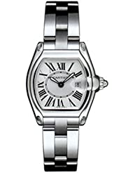 NEW CARTIER ROADSTER LADIES STEEL WATCH W62016V3