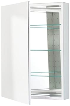 Robern CB-PLM2430WLE  Pl-Series Left-Side Flat Mirror Medicine Cabinet with Outlet, White