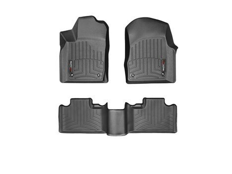 2013-2015 Dodge Durango Black Weathertech Floor Liner [Second Row Bench Seating]-1st and 2nd row only (Weathertech Durango compare prices)