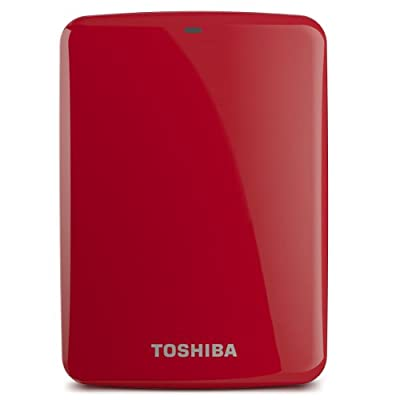 Toshiba Canvio Connect 2TB Portable Hard Drive Red (HDTC720XR3C1)