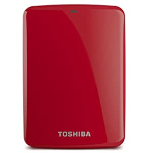 Toshiba Canvio Connect 2TB Portable Hard Drive, Red (HDTC720XR3C1)
