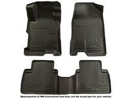 Coverking Custom Fit Front Floor Mats for Select Honda Prelude Models Black Nylon Carpet