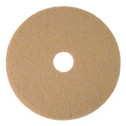 Zoom Supply 3M 05606 Burnishing Pads, Commercial-Grade 20'' 3M 3400 Tan Burnish Floor Pads -- Brilliant ''Pop'' Shine Gets You Praise & Attention