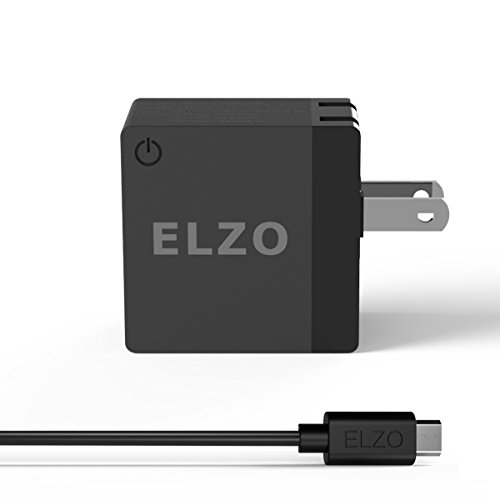Elzo Quick Charge 2.0 18W USB Rapid Wall Charger Adapter Fast Portable Charger With A 3.3ft Micro USB Cable For Samsung Galaxy/Note, LG Flex2/V10/G4, Nexus 6, Motorola Droid/X, Sony Xperia, HTC, ASUS (Samsung Galaxy 24 Mini Case compare prices)